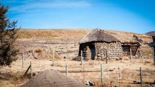 hut deserted lesotho