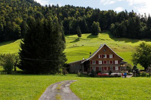 hut alpine hut landscape