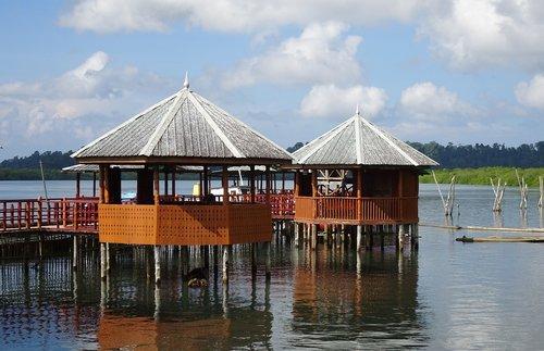 hut  tourist hut  creek