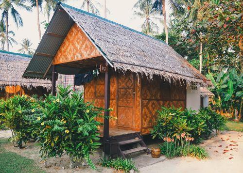 hut exotic tropical