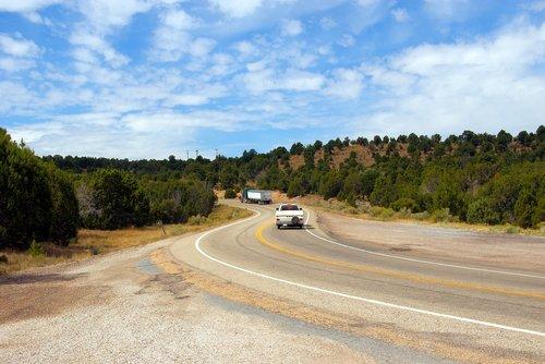 hwy 191 at flaming gorge  highway  road