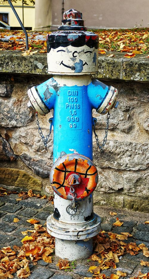hydrant painted funny