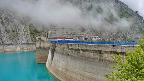 hydroelectric power station landscape water