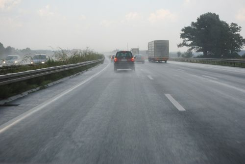 hydroplaning highway germany