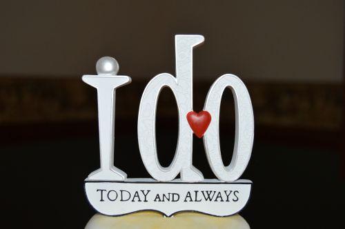 i do today and always wedding