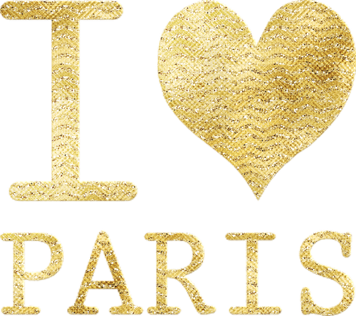 i heart paris  gold foil  i love paris