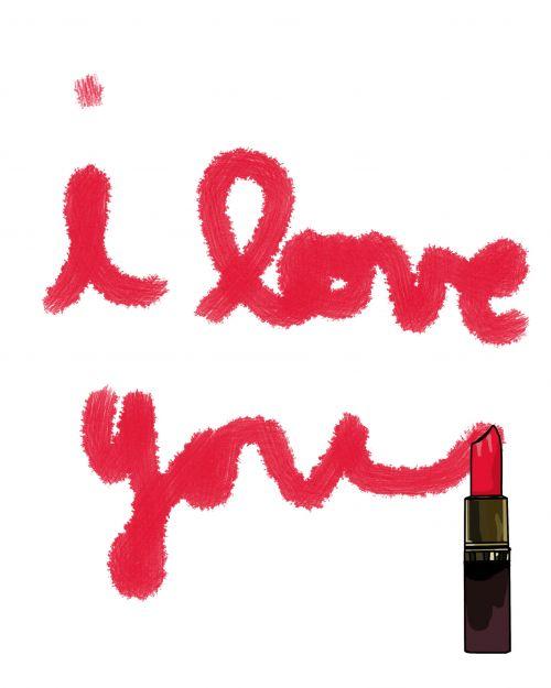 I Love You In Lipstick