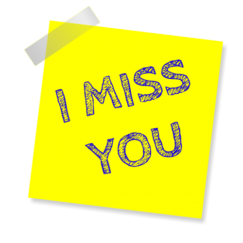 i miss you reminder post note
