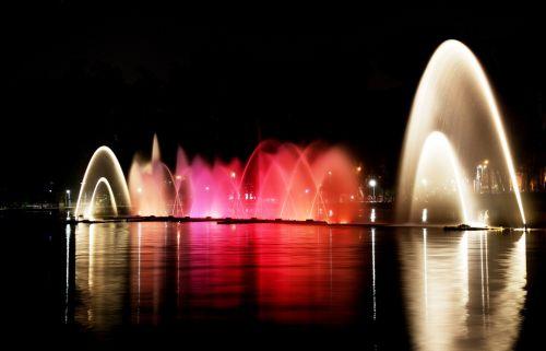 ibirapuera park lights night