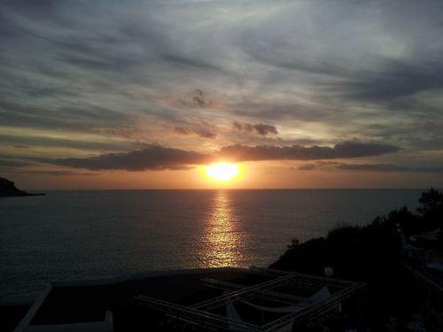 ibiza sunset evening