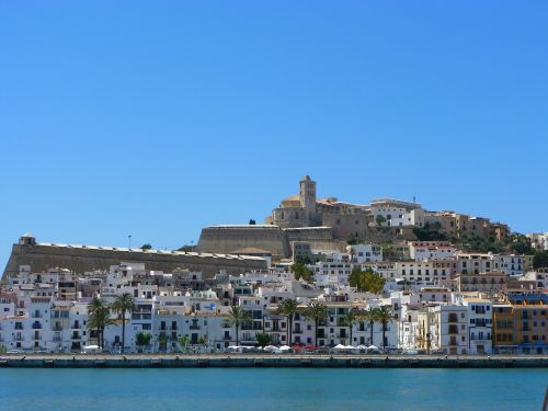 ibiza coastal town balearic islands