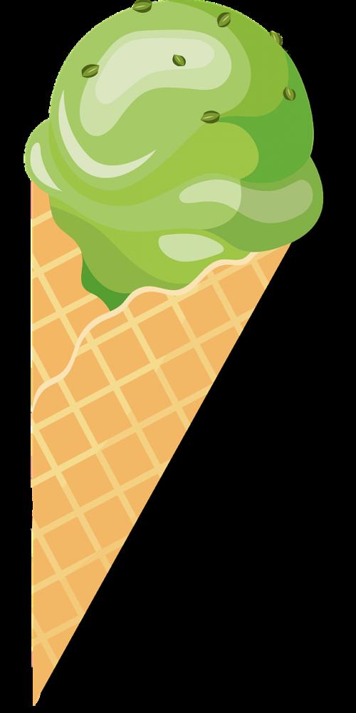 ice ice cream waffle