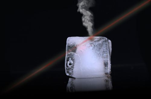 ice ice cubes laser
