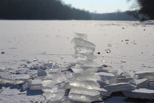 ice lake frost