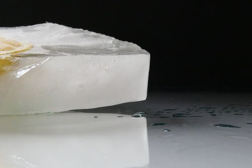 ice ice cold block of ice