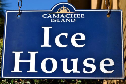 ice ice house sign