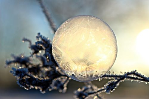 ice-bag soap bubble frost