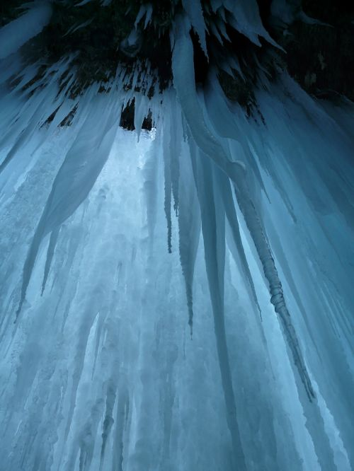 ice cave ice curtain icicle