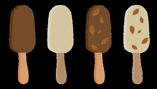 ice cream popsicle on a stick