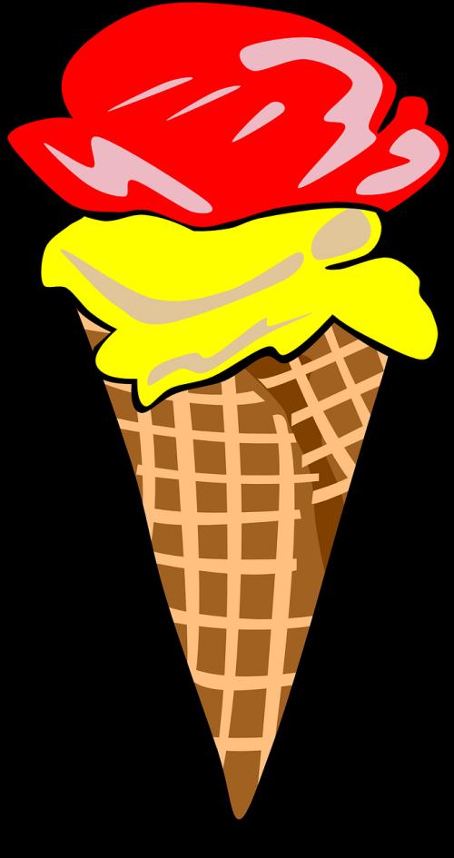 ice cream cone frozen