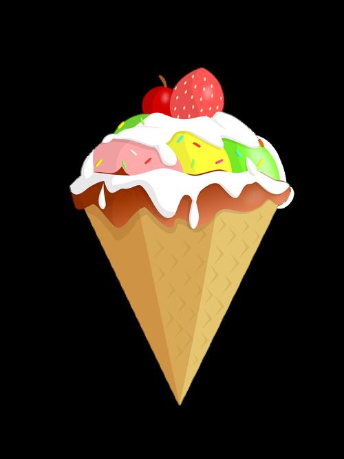 ice cream  dessert  delicious