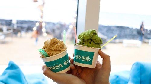 ice cream  gelato  peanut gelato