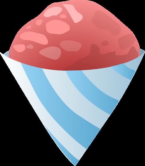 ice cream cone pink
