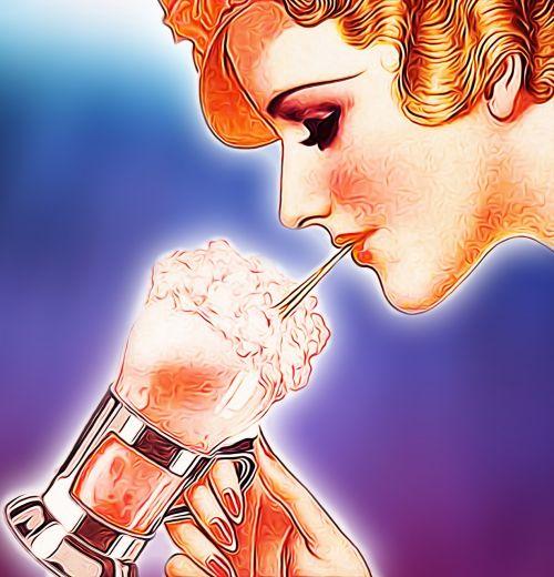 ice cream milk shake vintage