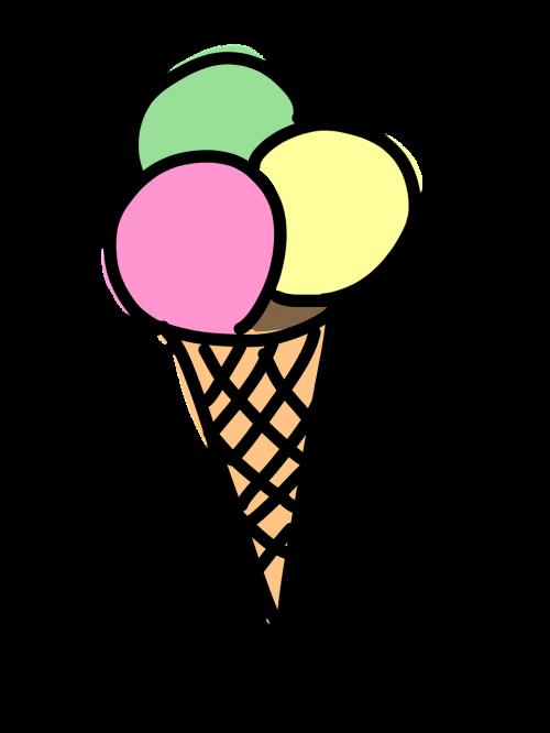 ice cream cone ice cream ice