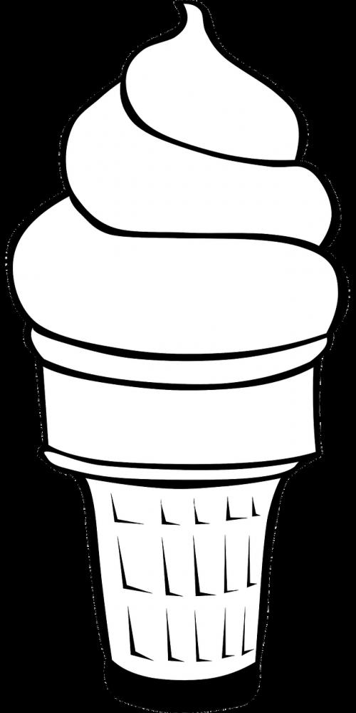 ice cream cone vanilla ice cream dessert