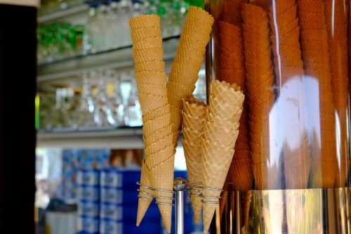ice cream cones ice cream parlour ice