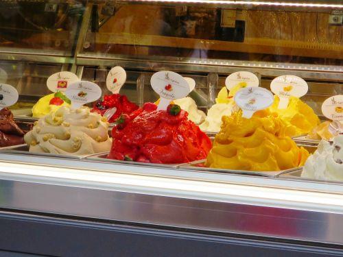 ice cream parlour ice cream eiscafe
