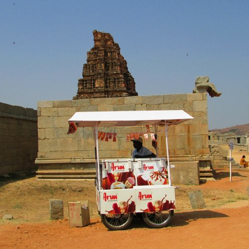 ice cream vendor hampi india