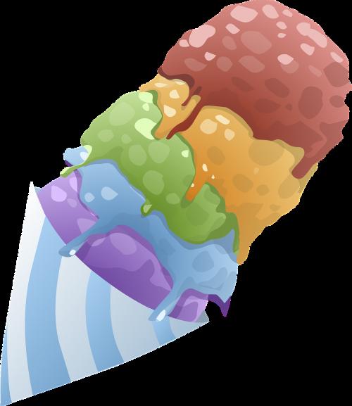 ice creams cones desserts