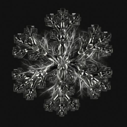 ice crystal snowflake ice