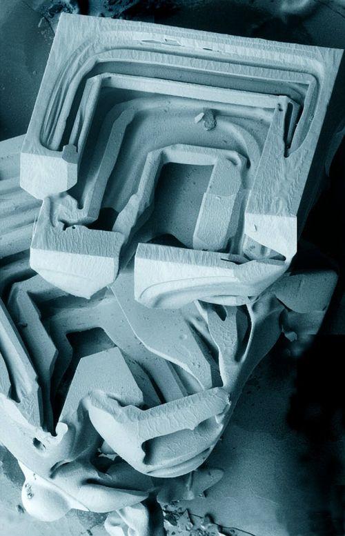 ice crystals snow microscope
