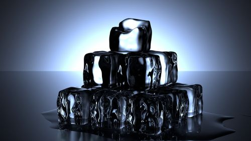 ice cubes cold water