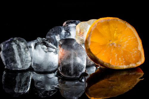ice cubes frozen water cold