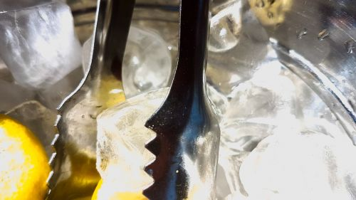 ice cubes ice tongs beverages