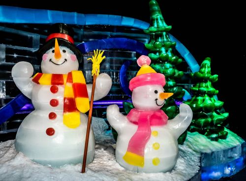 ice exhibit gaylord palms ice sculptures