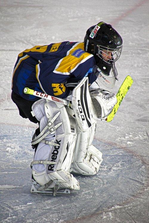 ice hockey  hockey  ice hockey goalie