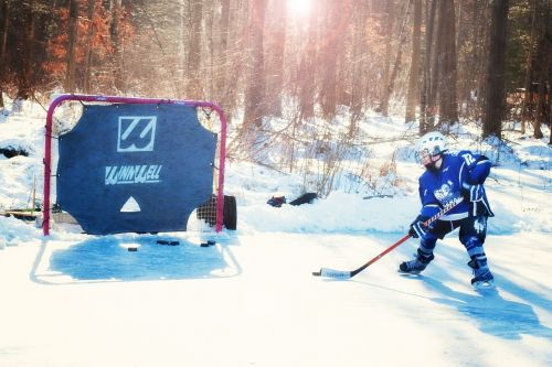 ice hockey hockey player young