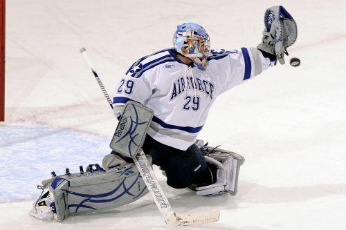 ice hockey goalie goal