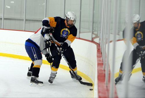 ice hockey players pass