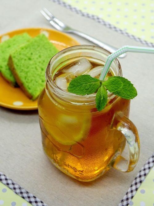 ice lemon tea tea drink