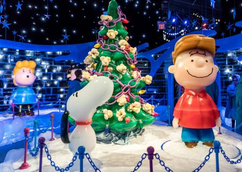 ice sculpture charlie brown christmas tree