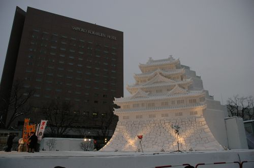 ice sculpture ice palace japan