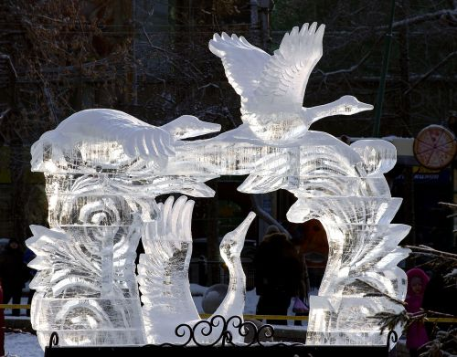 ice sculptures winter cold