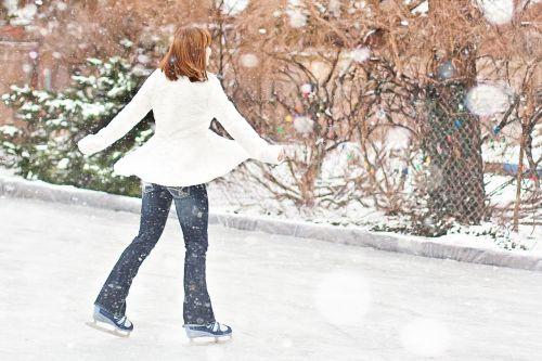 ice skating ice skater winter