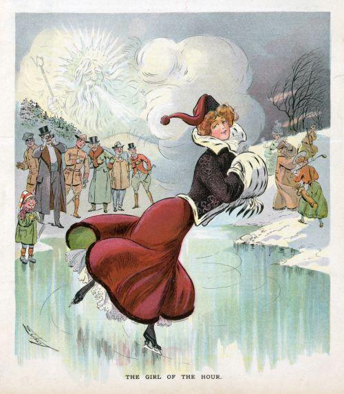 Ice Skating Woman Poster